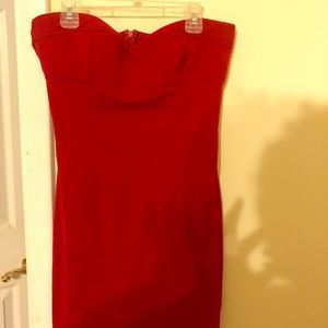 Pre-owned red tube dress by twenty one